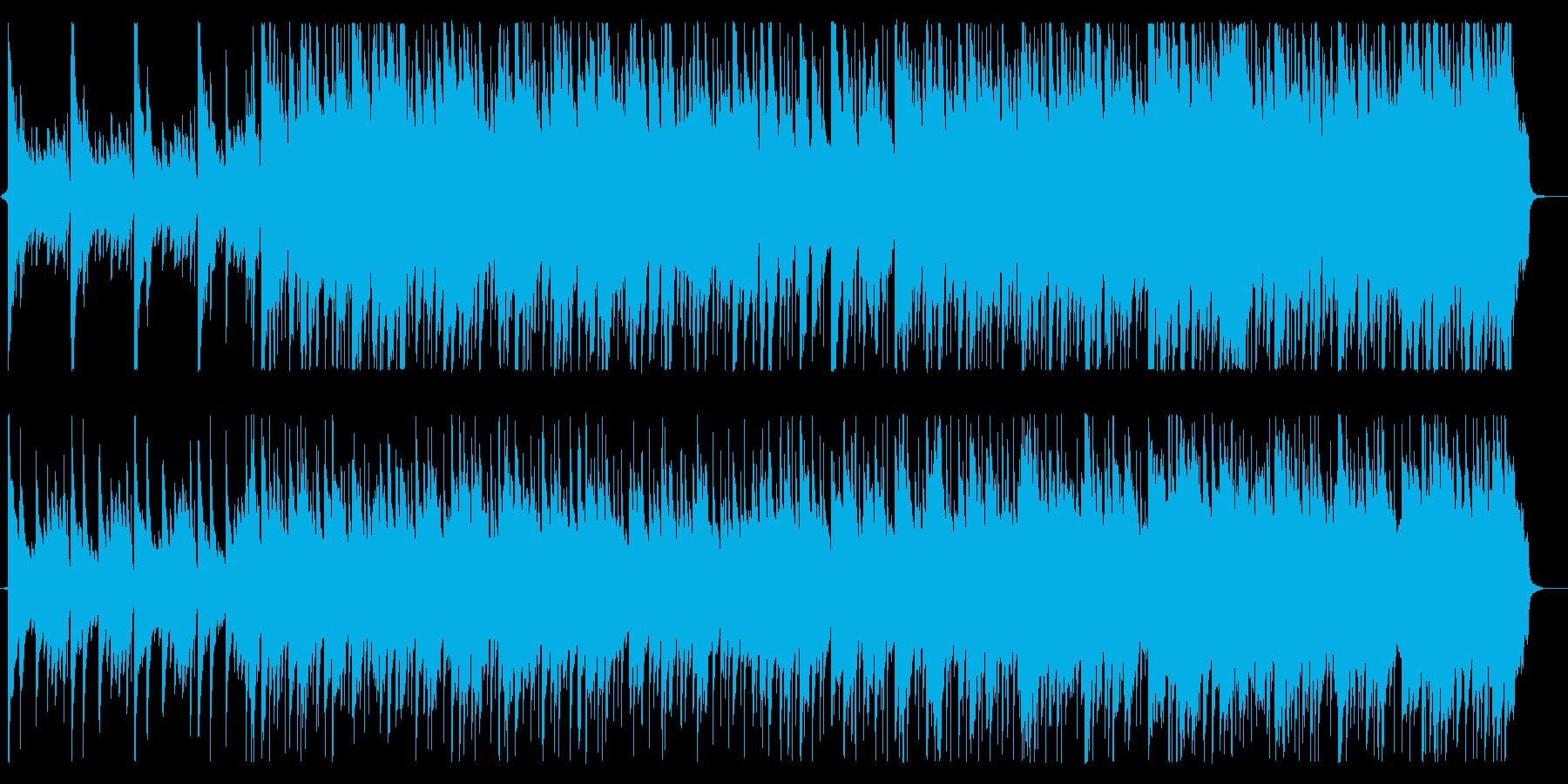 落ち着いた雰囲気のタイトルBGMの再生済みの波形
