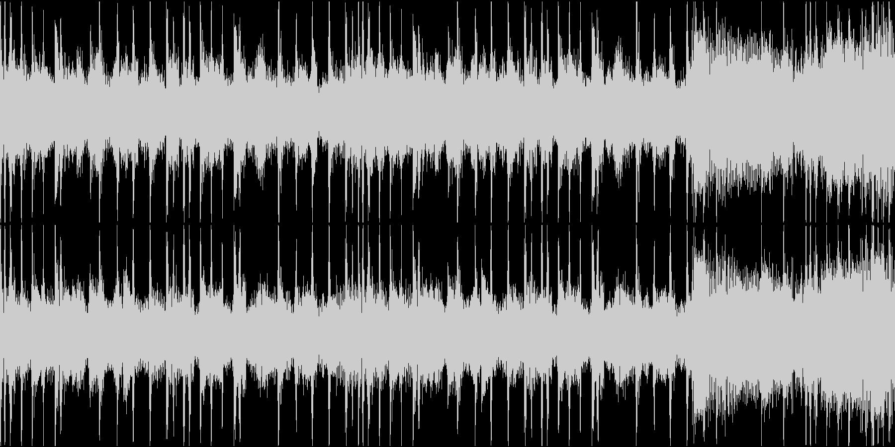 混乱・困惑・不安のブレイクビーツループの未再生の波形