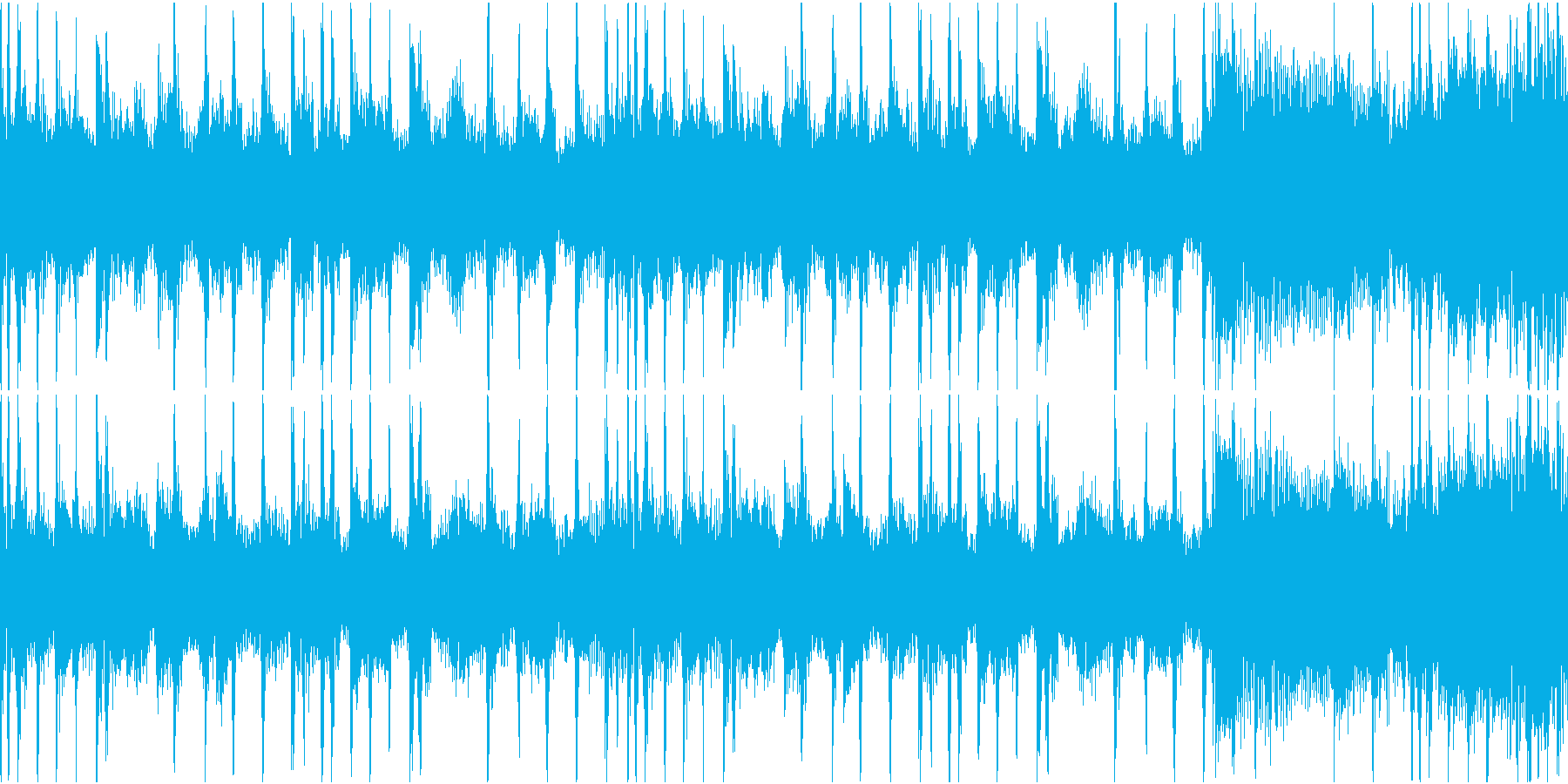 混乱・困惑・不安のブレイクビーツループの再生済みの波形
