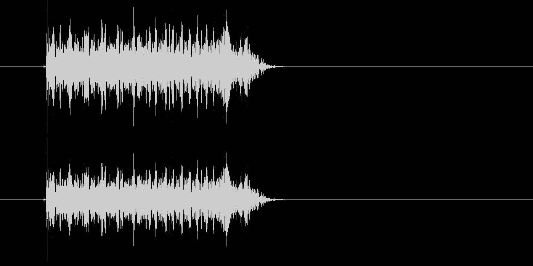 キュルルルルル!高速回転音の未再生の波形
