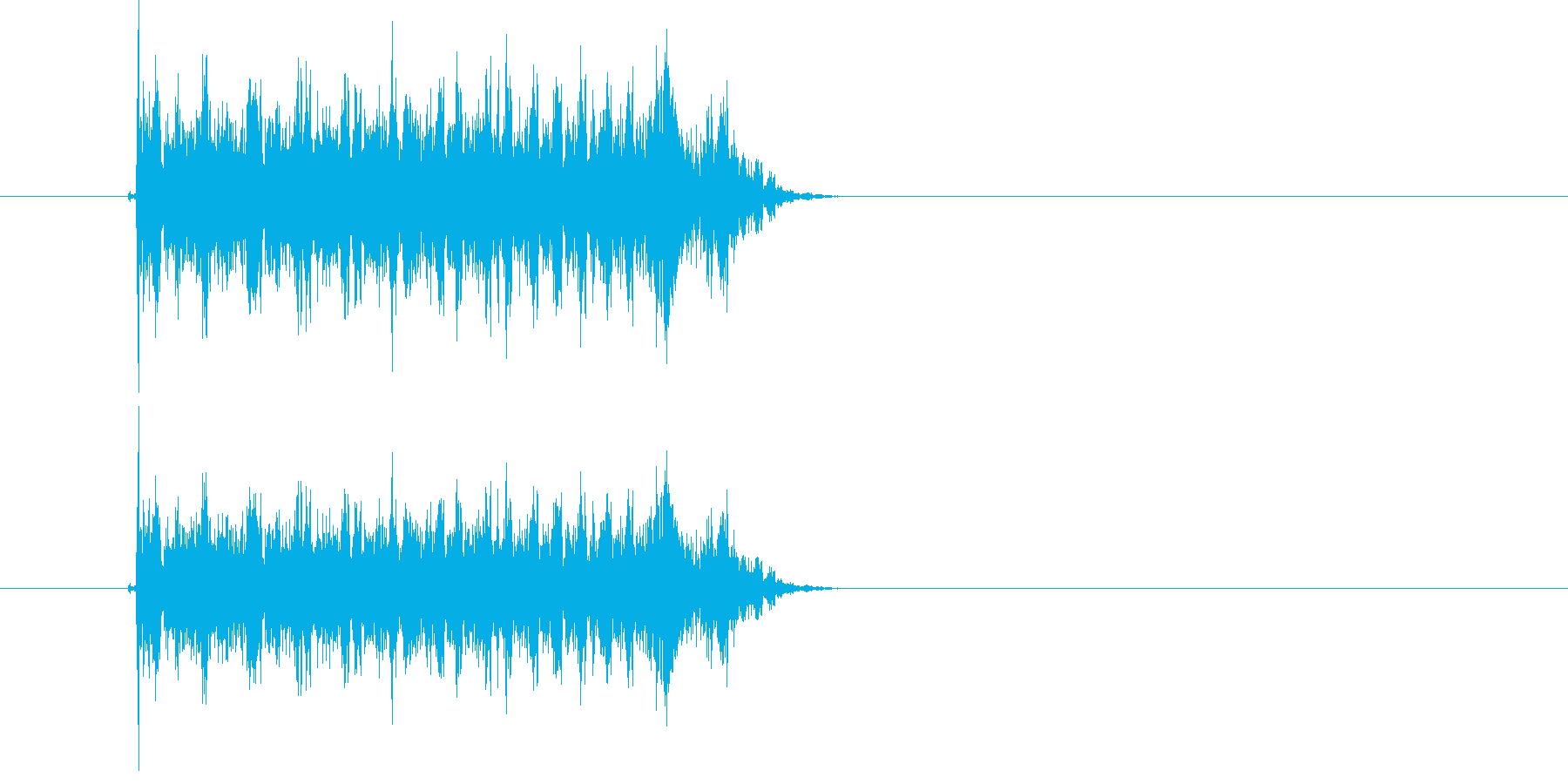 キュルルルルル!高速回転音の再生済みの波形