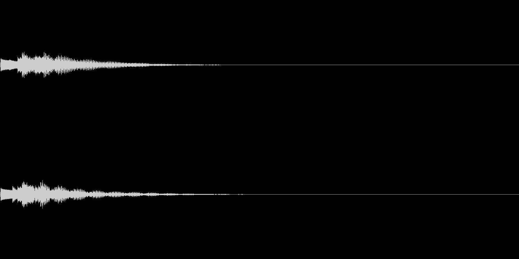 かわいくウインクする時の効果音の未再生の波形