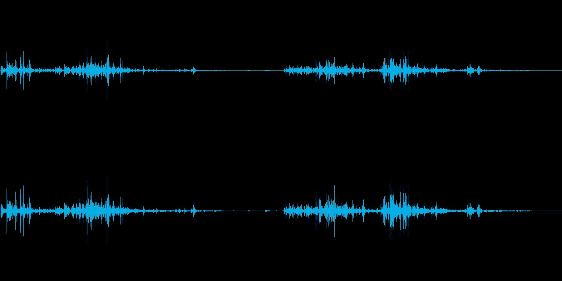 シャッシャ:タブレット菓子を出す音ですの再生済みの波形