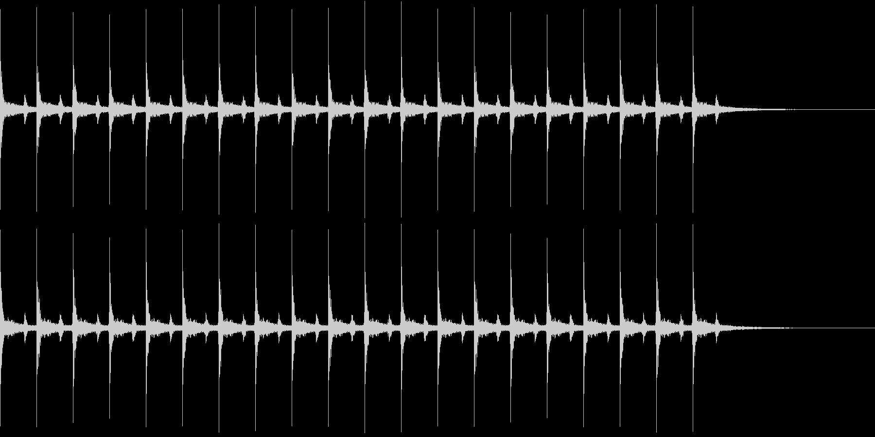 心の中の音シリーズ 時計の秒針と心臓音の未再生の波形