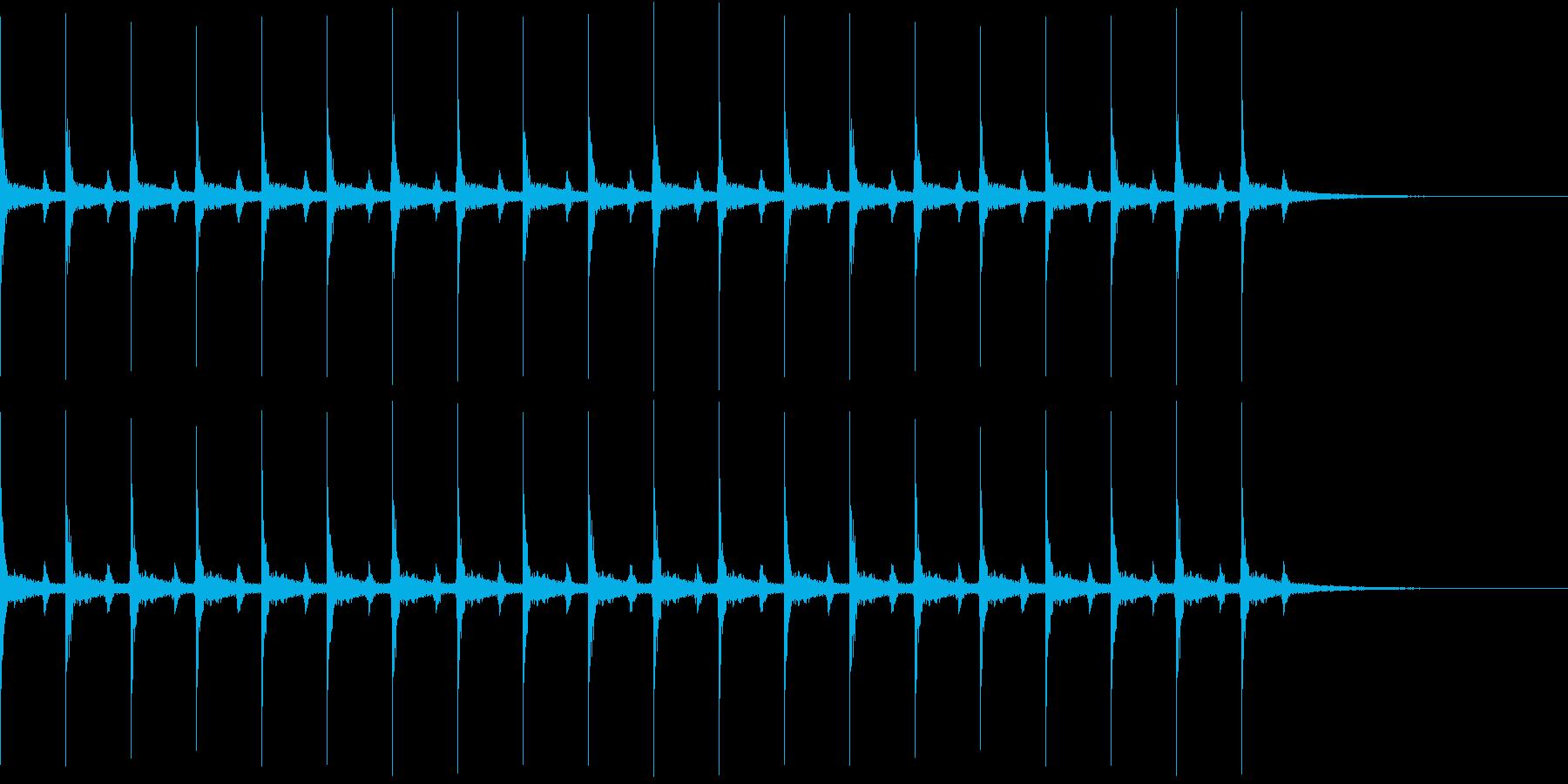 心の中の音シリーズ 時計の秒針と心臓音の再生済みの波形
