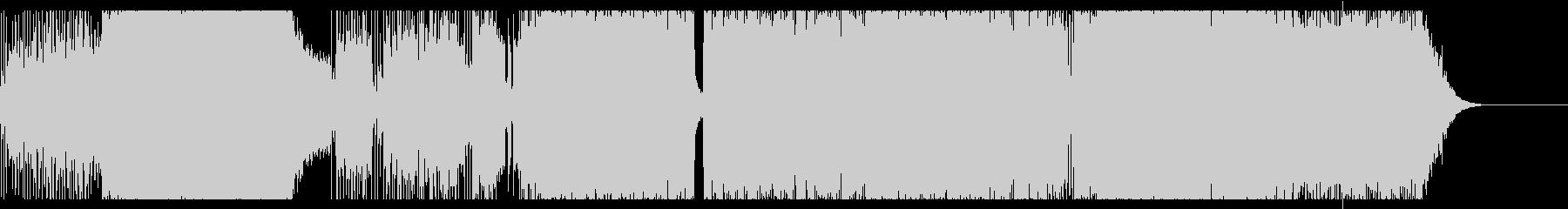 疾走感あるロック調サウンドの未再生の波形