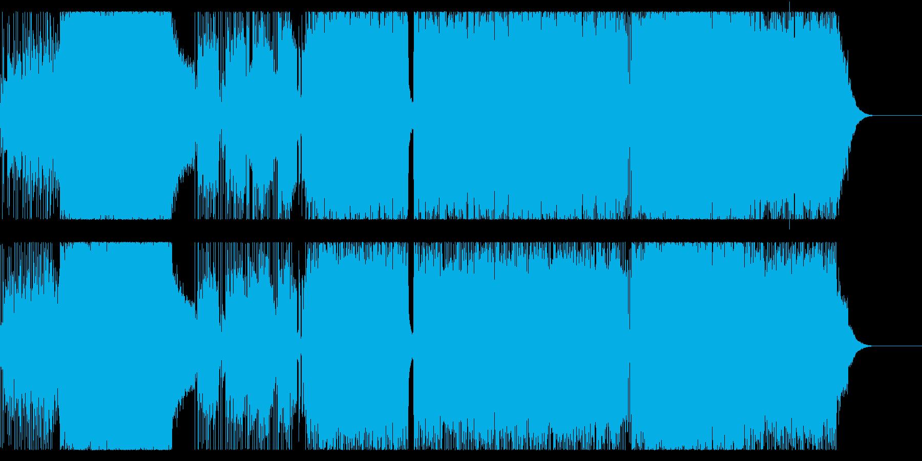 疾走感あるロック調サウンドの再生済みの波形