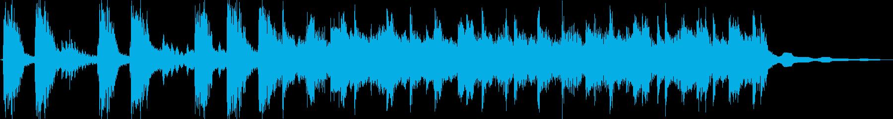 印象に残るエキサイティングロックジングルの再生済みの波形