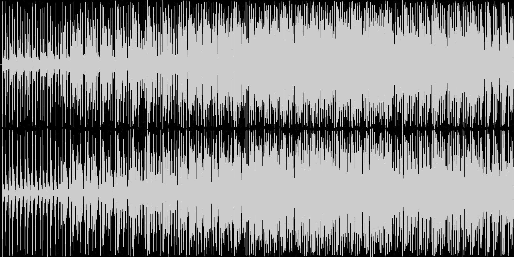 ボイスサンプルを切り刻んだ後半が印象的…の未再生の波形