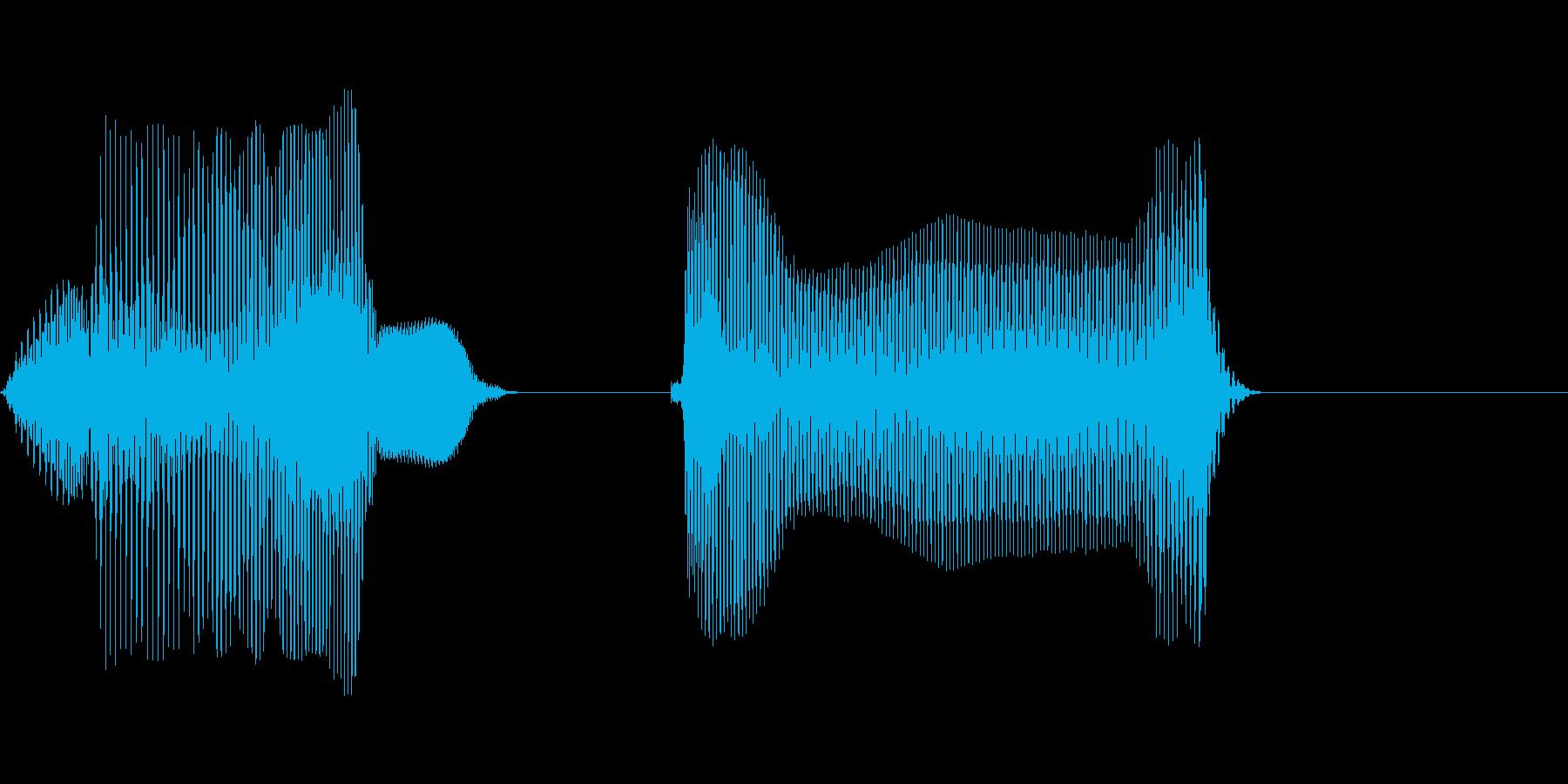 南東の再生済みの波形