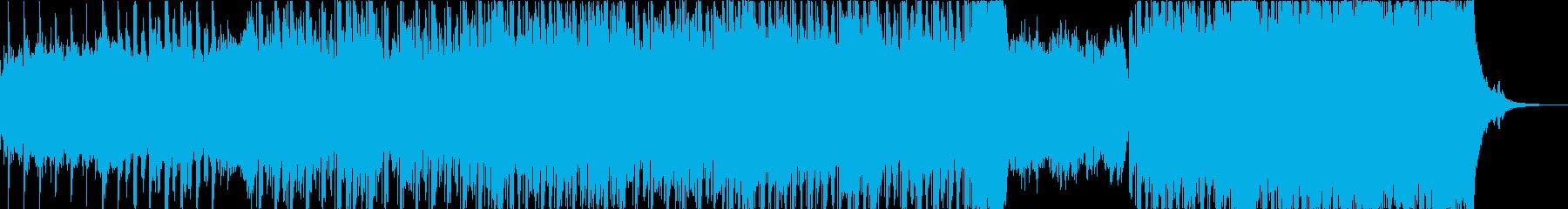 神秘的で思慮深く洞察的なエレクトロの再生済みの波形