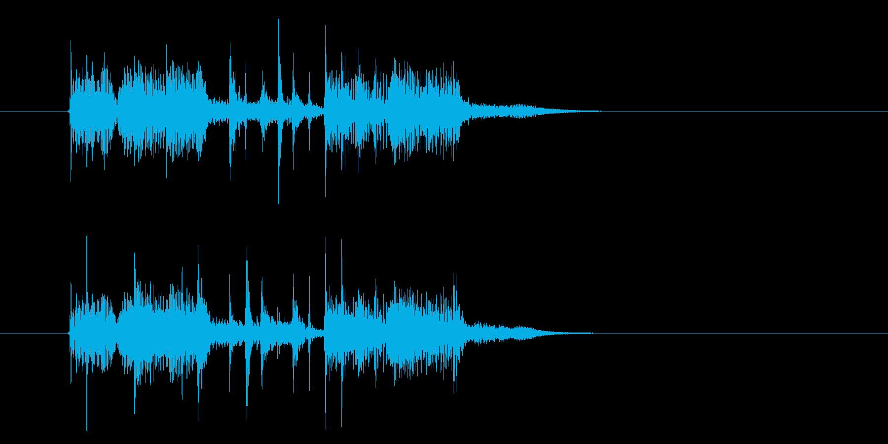 パーカッションの音に浮遊感があるシンセ曲の再生済みの波形