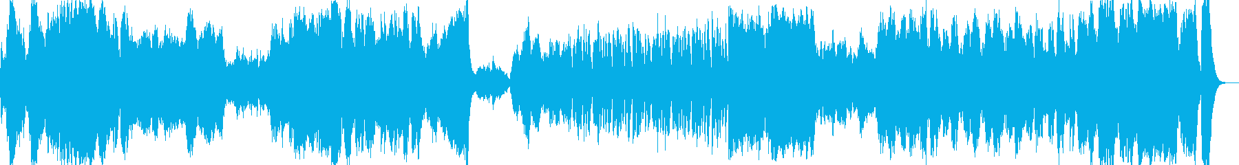 迫力のある壮大なオーケストラファンファーの再生済みの波形