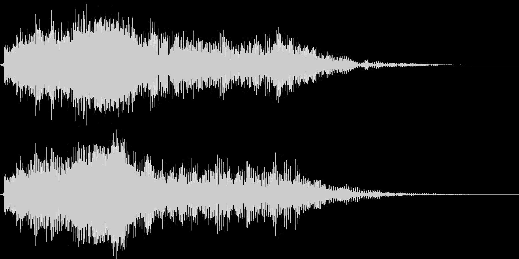 ベル系メロディのメール着信音・通知音の未再生の波形