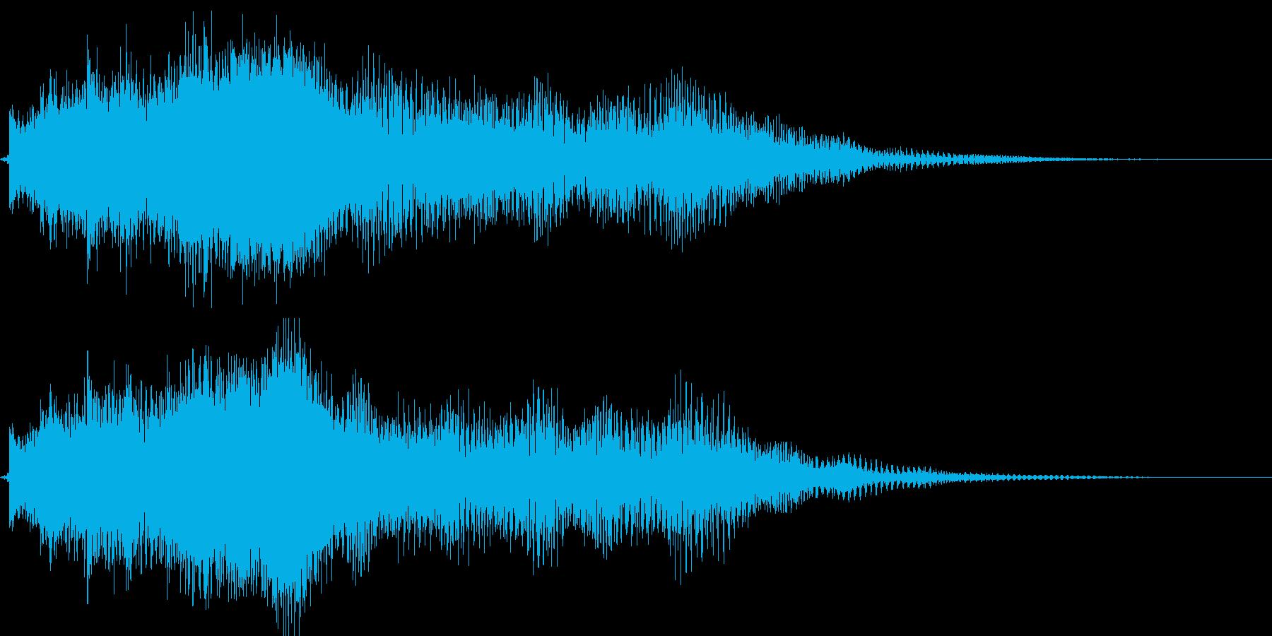 ベル系メロディのメール着信音・通知音の再生済みの波形