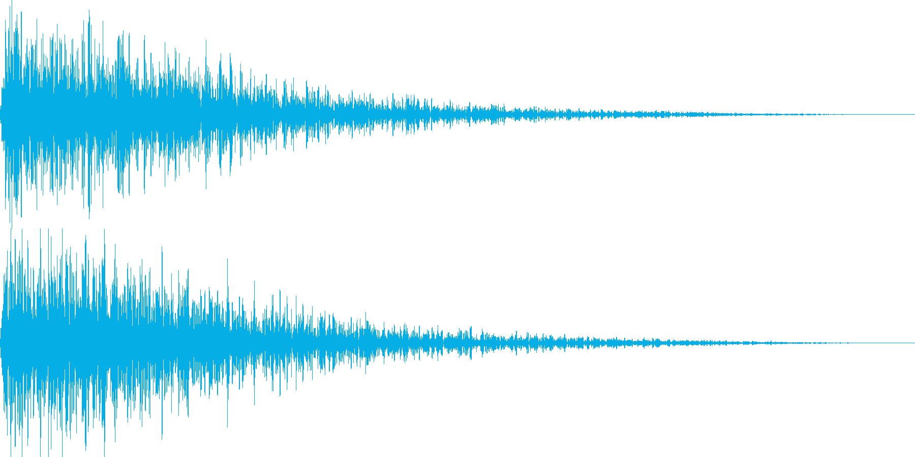 遠めで鳴ってる爆発・衝撃音の再生済みの波形