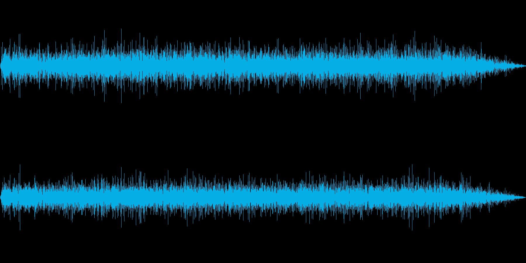 テレビ 砂嵐音 ザー ゴー ノイズの再生済みの波形