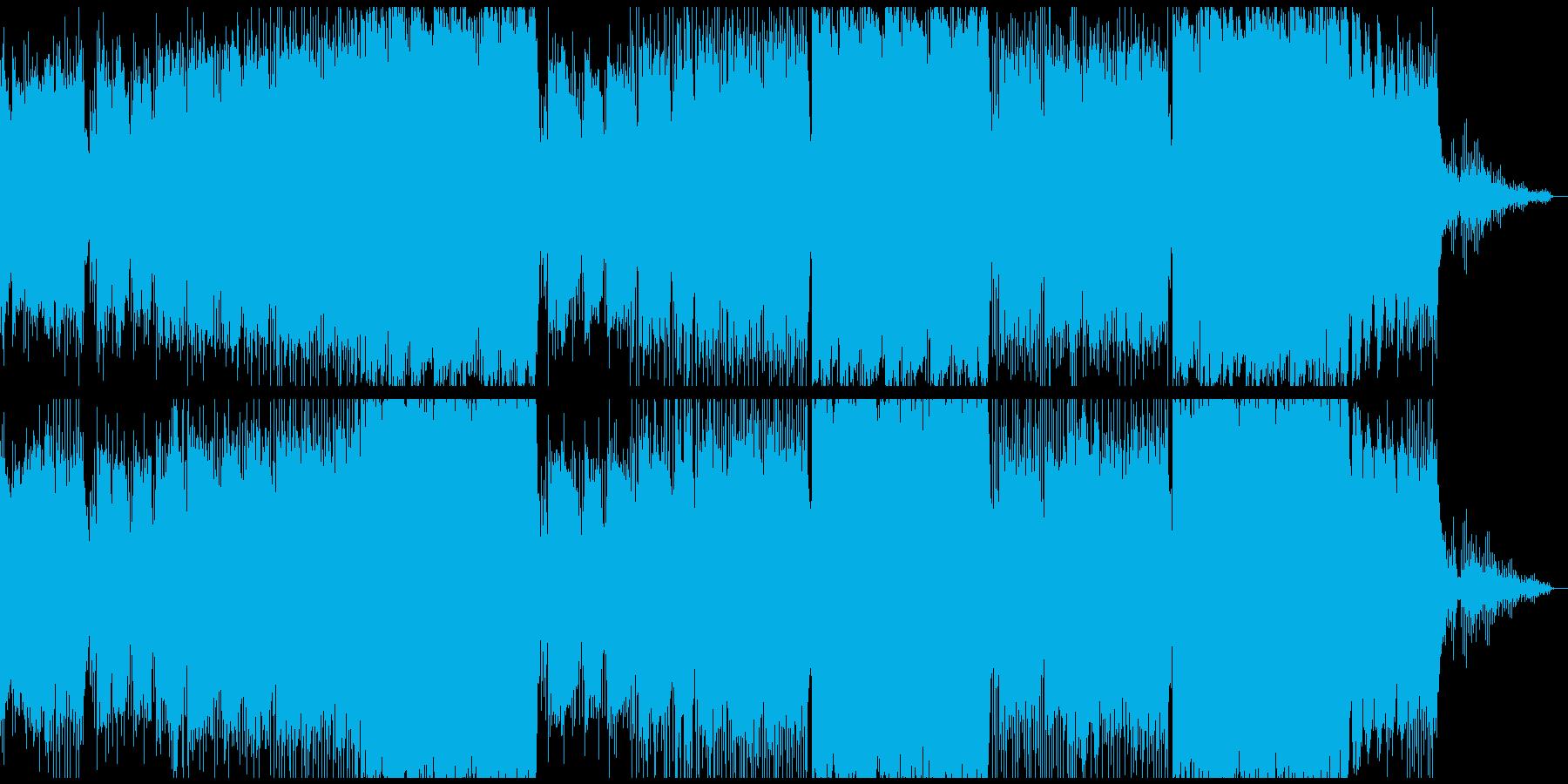 ハロウインがテーマのホラー風EDMの再生済みの波形