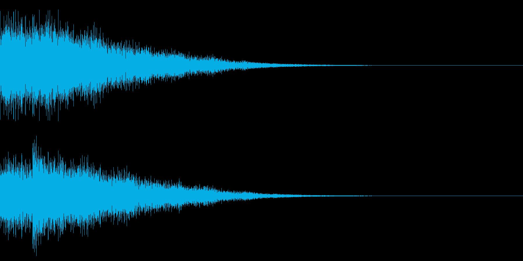 緊張感や恐怖感を煽るイメージの擬音です。の再生済みの波形