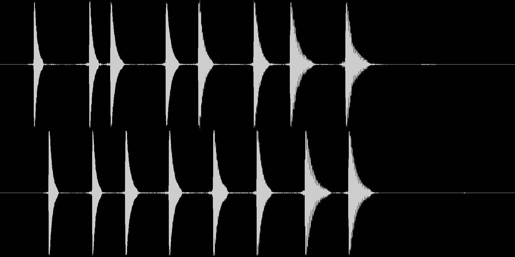 リセット音3(キョキョキョキョ)の未再生の波形