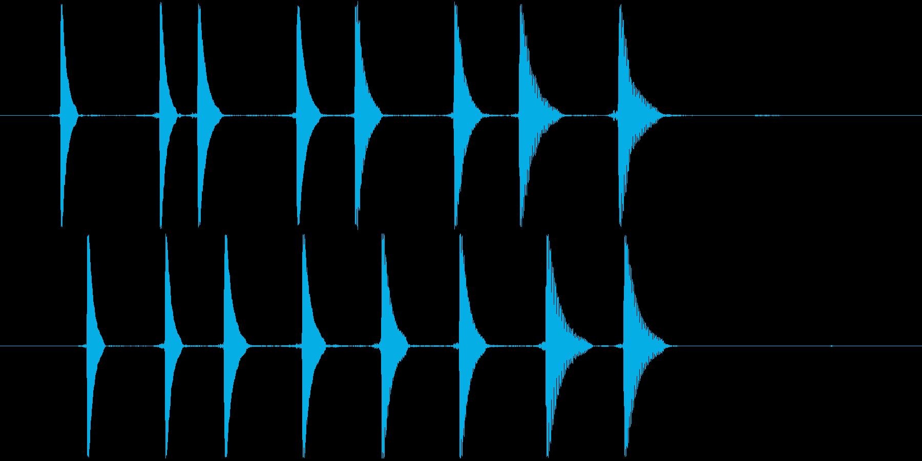 リセット音3(キョキョキョキョ)の再生済みの波形