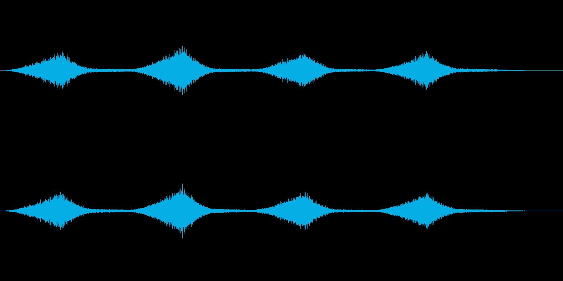 海のせせらぎの音(ザーン)の再生済みの波形