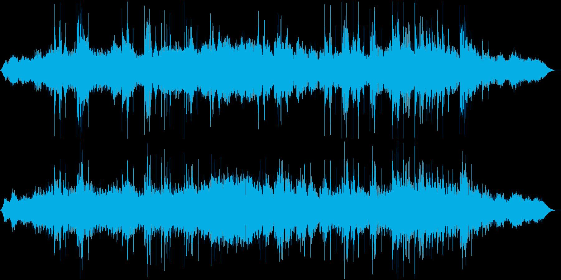 洞窟で流れるような水々しい簡素な音楽の再生済みの波形