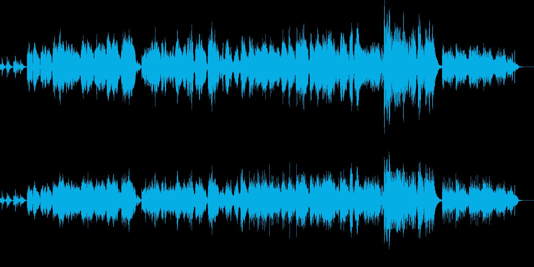 ピアノメインのオーケストラ風の再生済みの波形