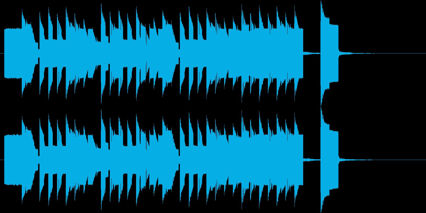 8bitゲームBGM風のジングルの再生済みの波形
