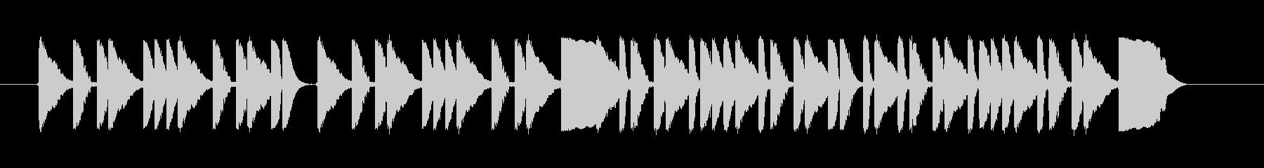 ドラムがコミカルなジングルの未再生の波形