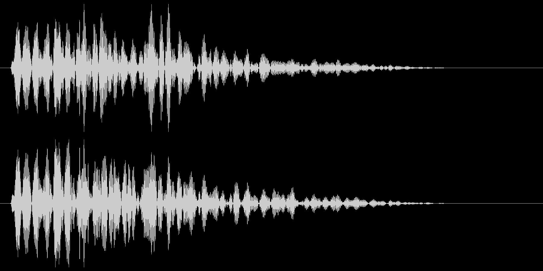 ビョン(バネが伸びる擬音)の未再生の波形