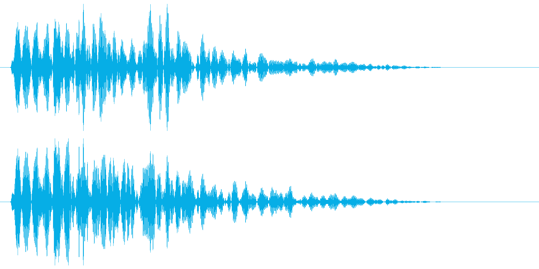 ビョン(バネが伸びる擬音)の再生済みの波形