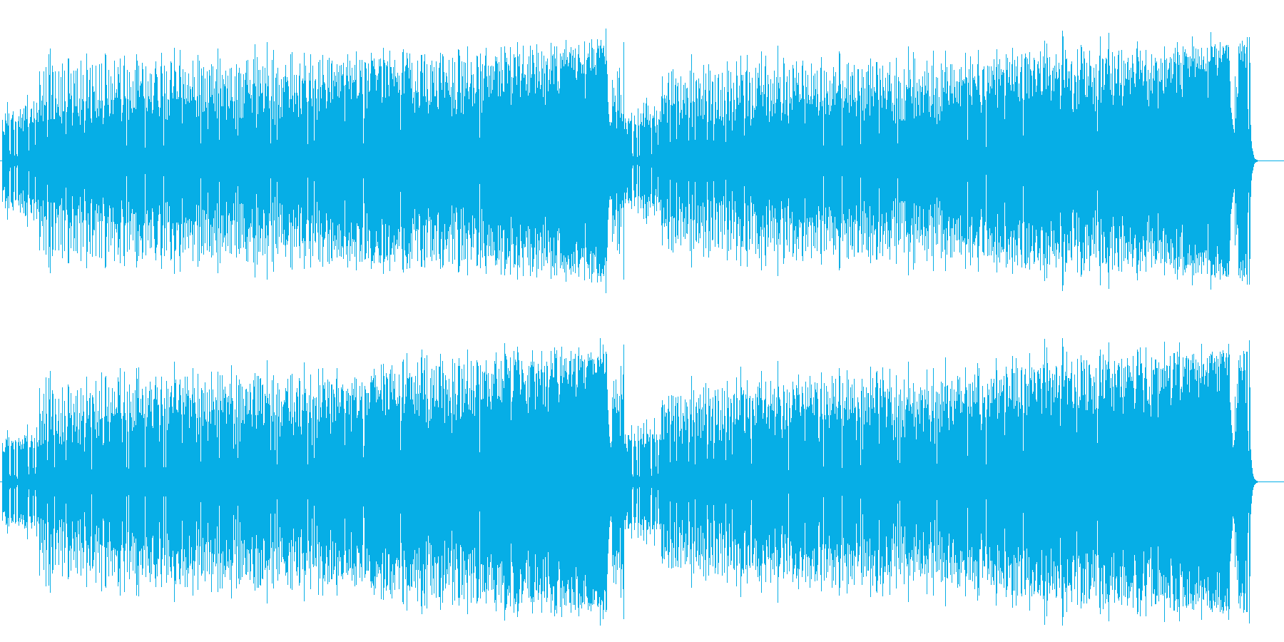 縦横無尽に行き交う軽妙なファンク/ポップの再生済みの波形
