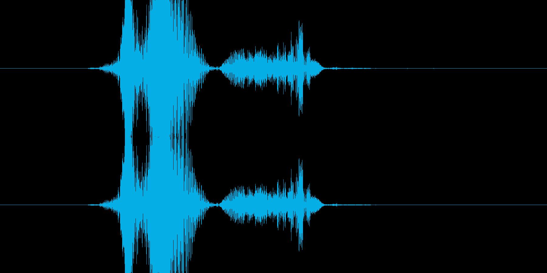 ううっの再生済みの波形