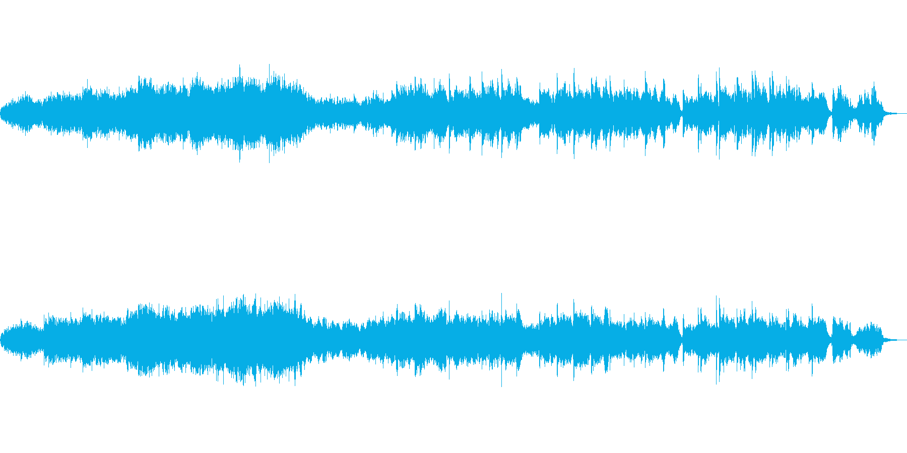 ノイズ、混沌とした中からの再生済みの波形