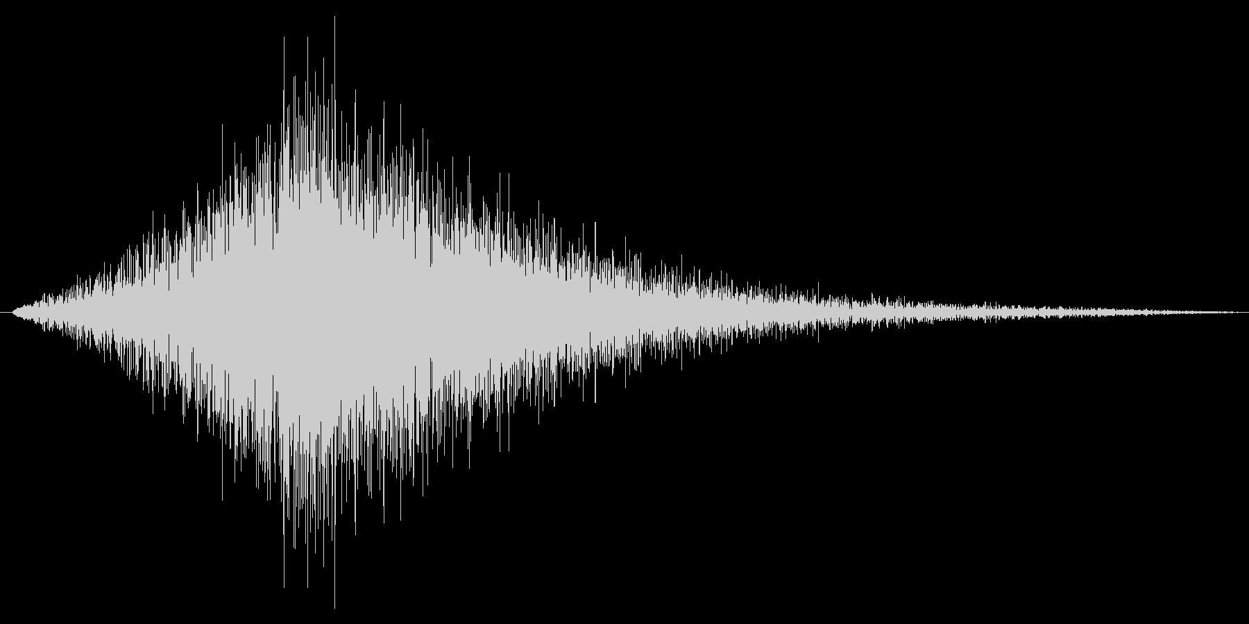 フォァァァ。ジャンプ・舞い降りる音の未再生の波形