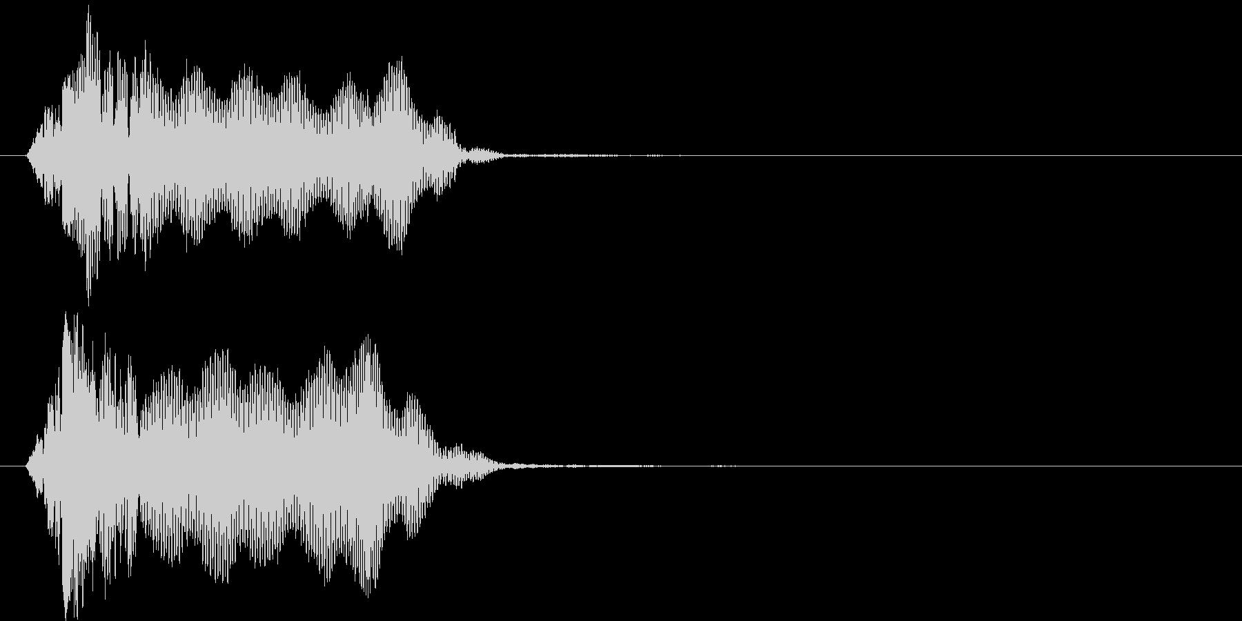 ビィーン(ビーム音)の未再生の波形