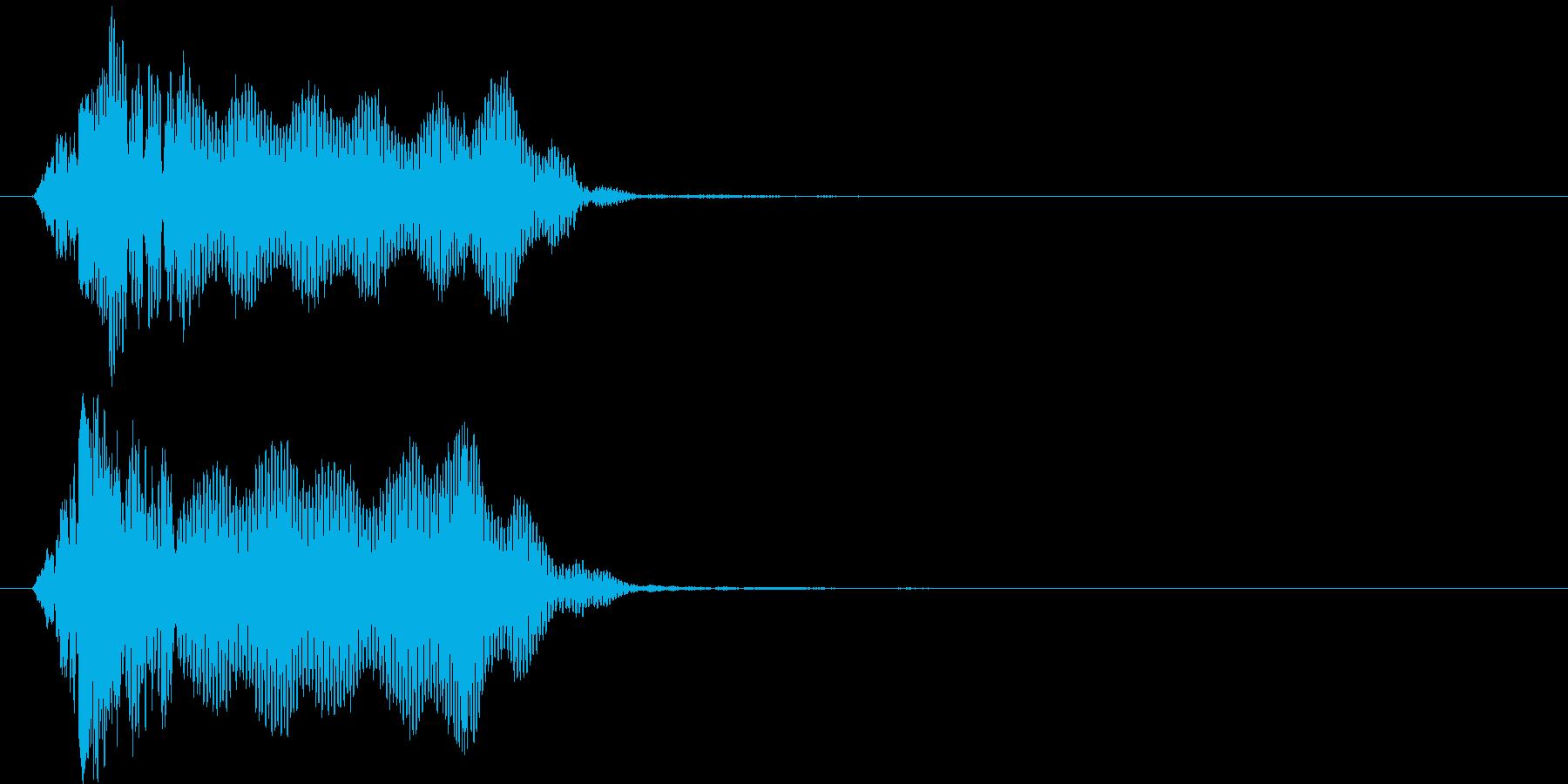 ビィーン(ビーム音)の再生済みの波形