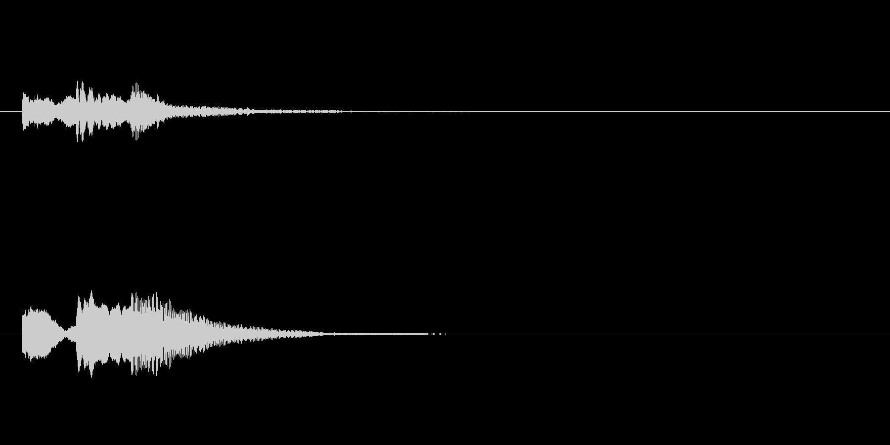 テレレン(キャンセル音)の未再生の波形