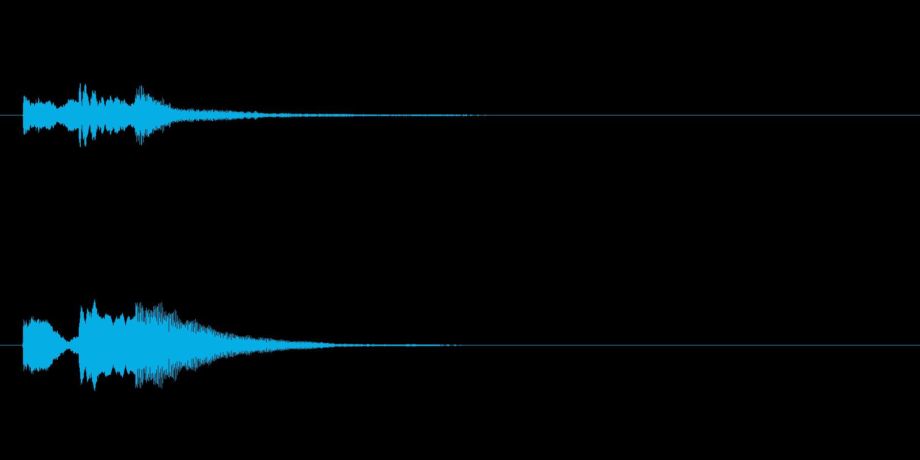 テレレン(キャンセル音)の再生済みの波形