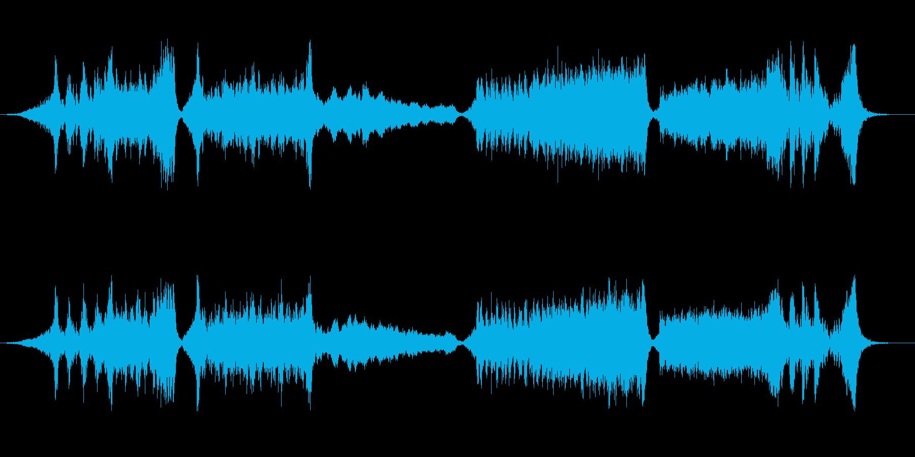 トレーラー(予告編):アクション映画の再生済みの波形