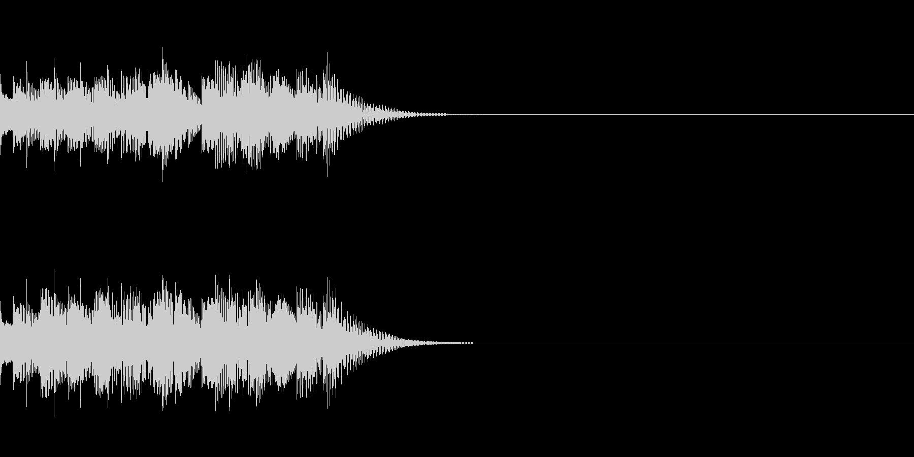 軽快な効果音の未再生の波形