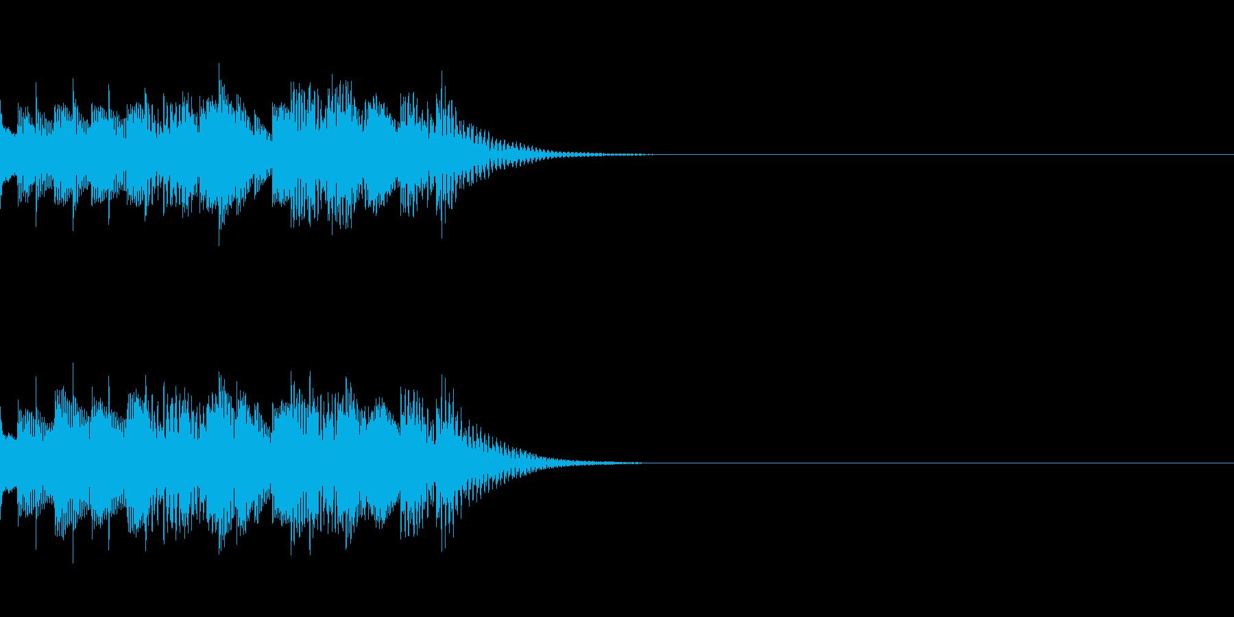 軽快な効果音の再生済みの波形