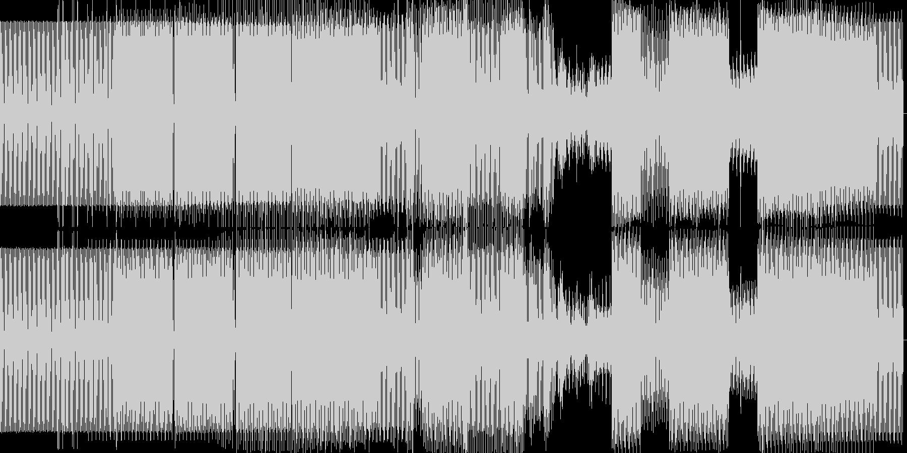 minimal house の未再生の波形