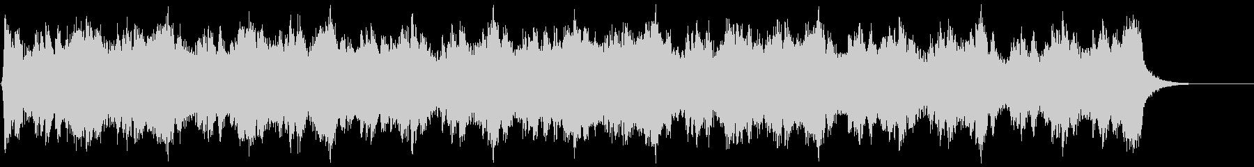 進軍の緊張を描くハリウッド系オーケストラの未再生の波形