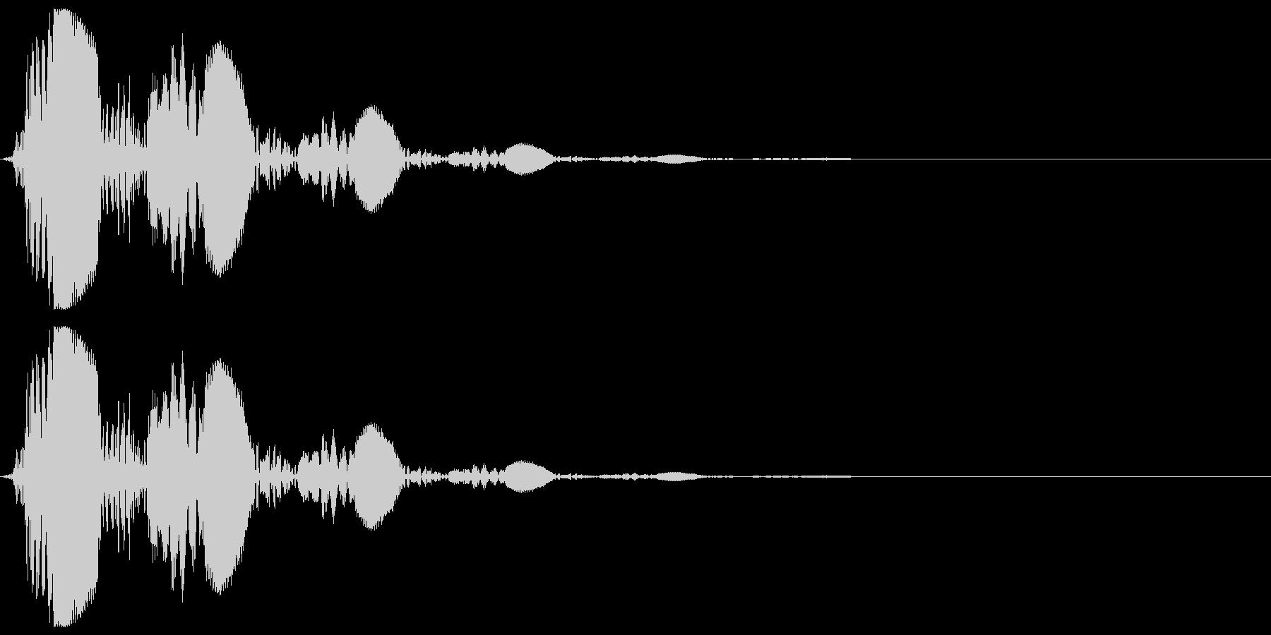 フルートの音で「キャンセル」の未再生の波形