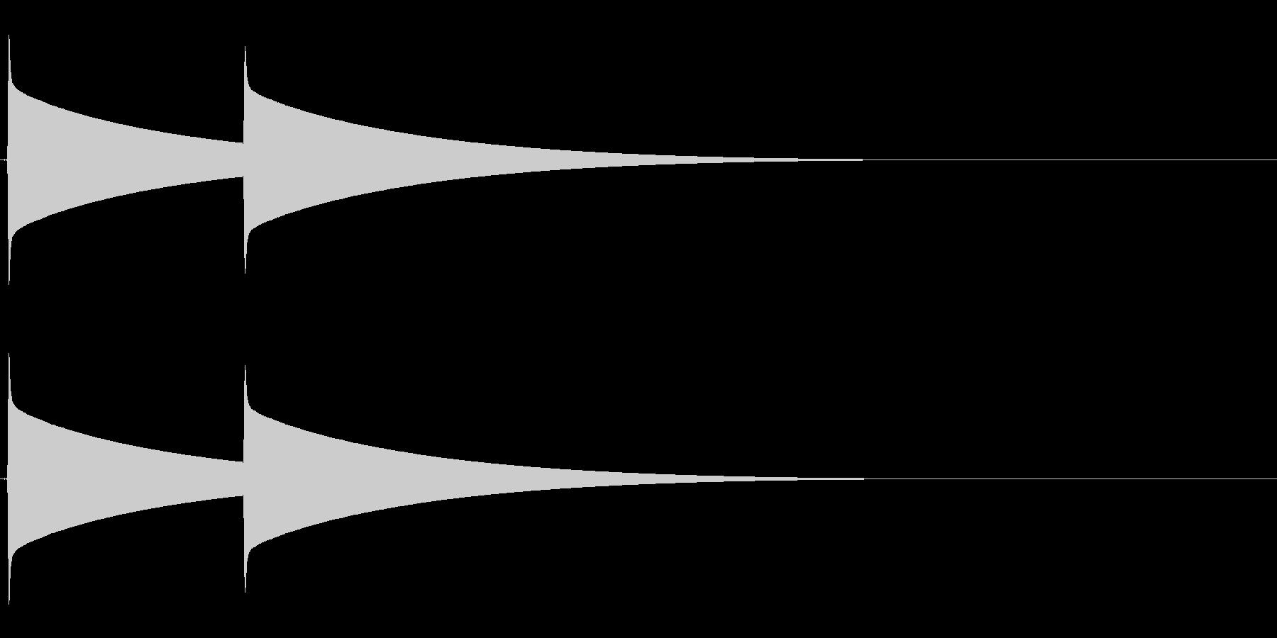 ピーンポーン(インターフォン、呼び出し)の未再生の波形