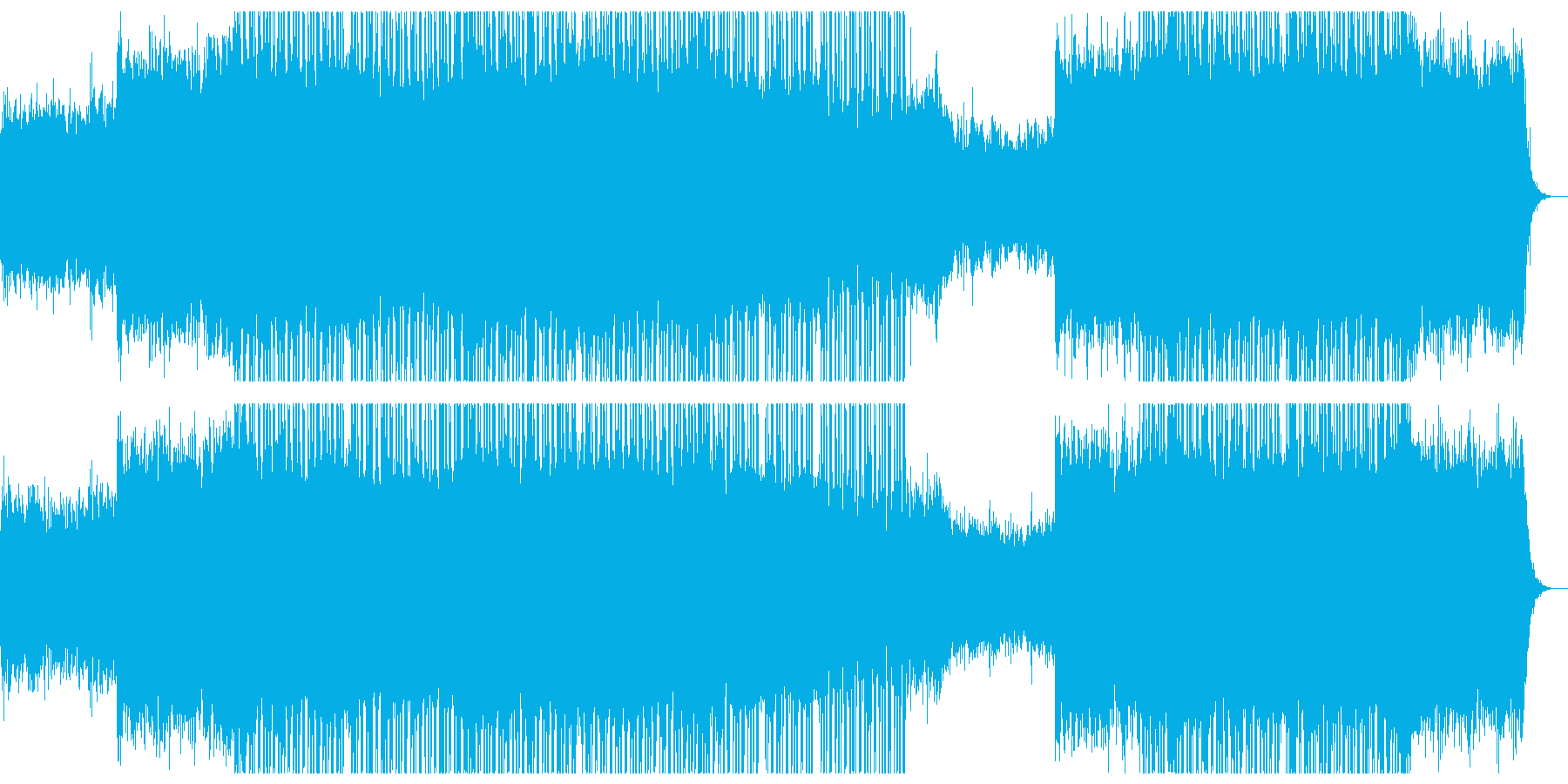 広がりの在る切ないエレクトロニカ。の再生済みの波形