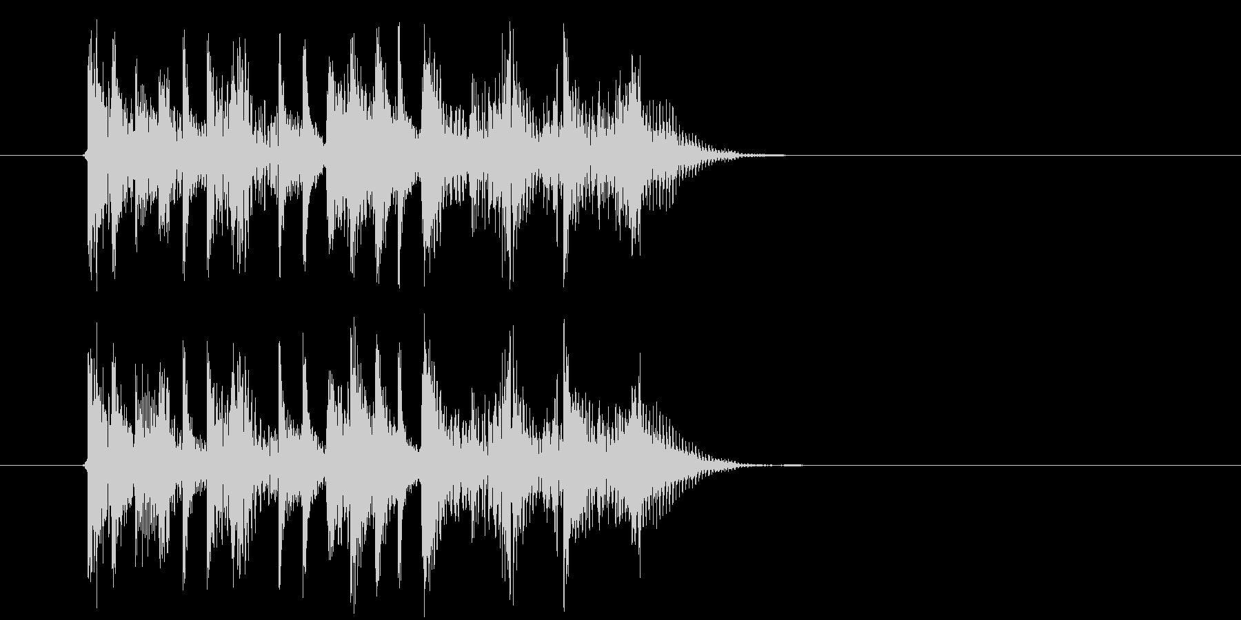 テクノ系アップテンポミュージックの未再生の波形