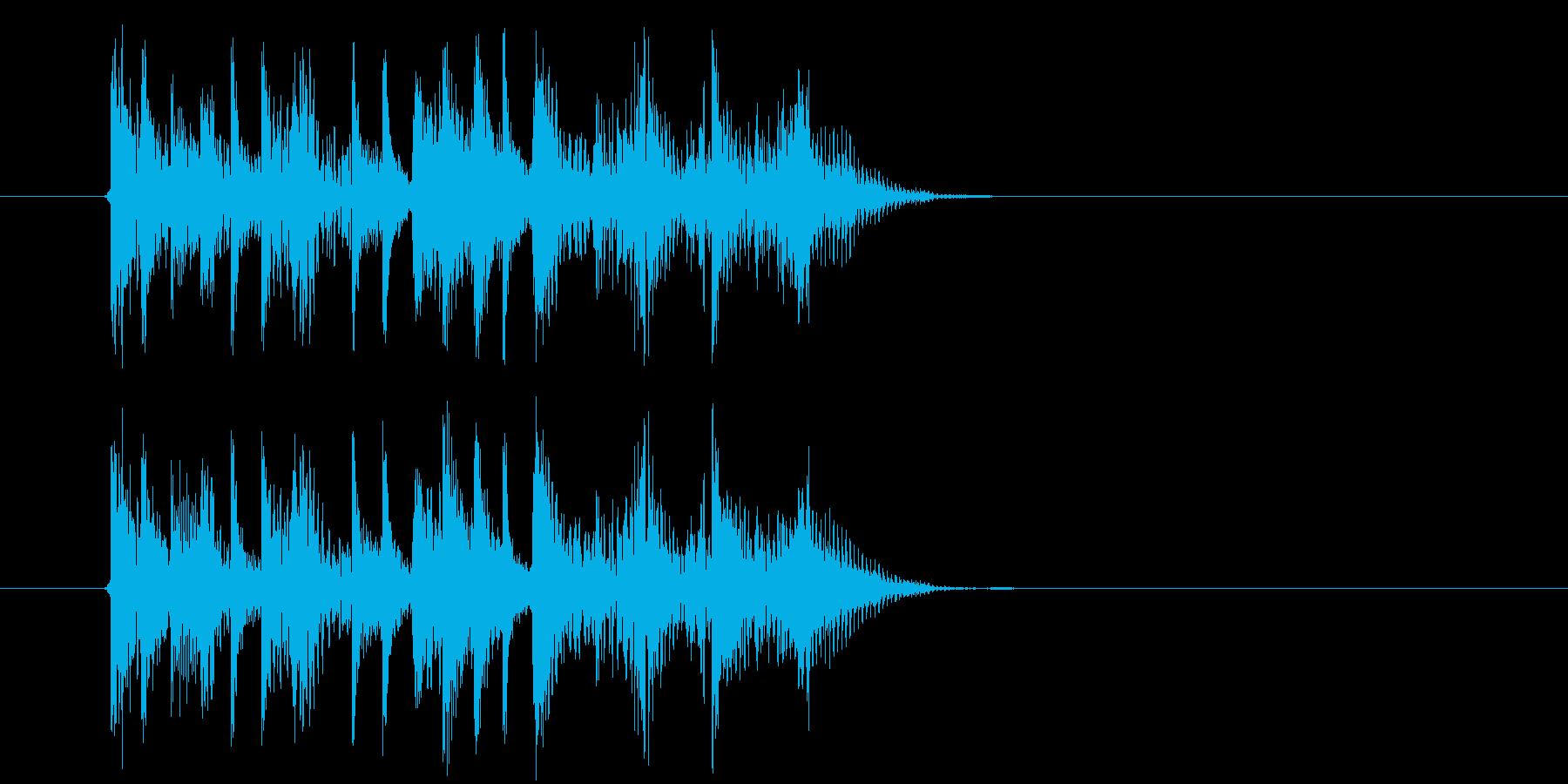 テクノ系アップテンポミュージックの再生済みの波形